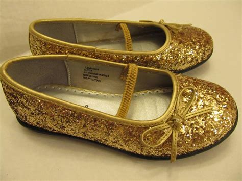 gold sparkle shoes rage toddler size 12 gold glitter dress