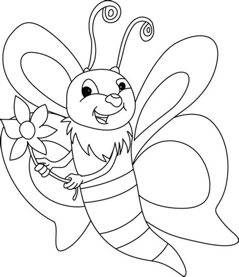 free bee body parts coloring pages
