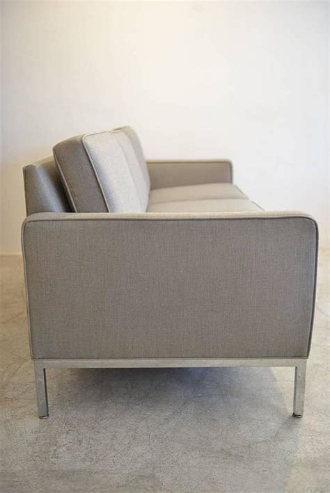 steelcase sofa chrome frame sofa by steelcase at 1stdibs