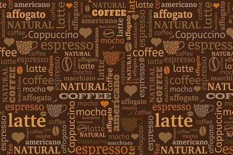 Canvas Wall Murals coffee beans and text graphic coffee wallpaper walls and
