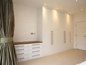 1 bespoke built in fitted wardrobe white chest drawers