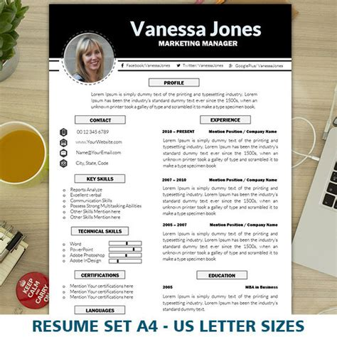 Popular Resume Templates Creative Market Marketing Resume Templates