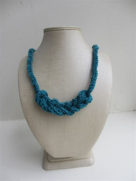 knitted necklace the feisty knitted i cord necklace