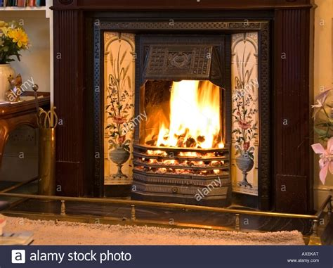 Open Fireplace Pictures by A Blazing Open In A Syle Fireplace Stock Photo Royalty Free Image 16821743 Alamy