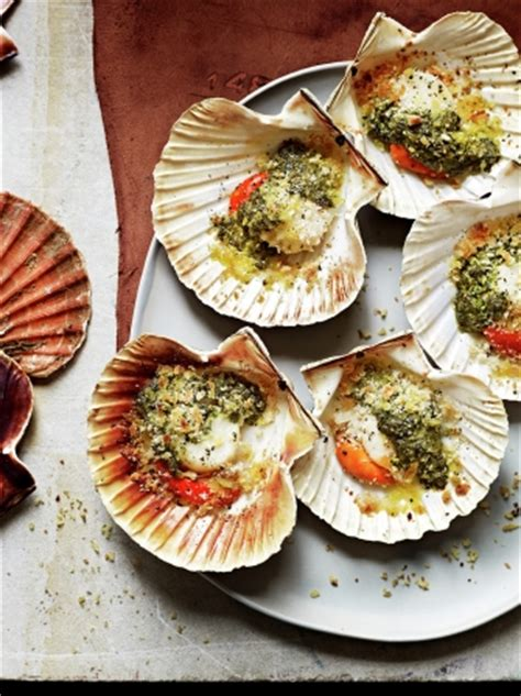 Grilled Scallops Seafood Recipes Jamie Magazine