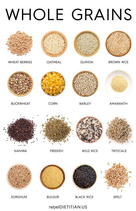 whole grains nutrition chart whole grains chart rebeldietitian us eat clean