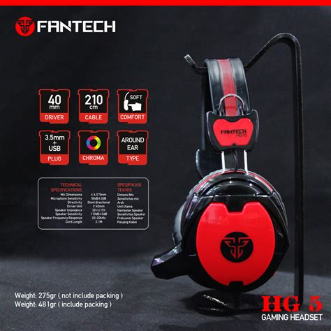Fantech Shaco Hg 5 Gaming Headset 1 fantech gaming headset hg 5 shaco hitam lazada indonesia