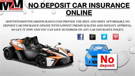 Cheap Car Insurance Deposit by Best No Deposit Car Insurance Quote