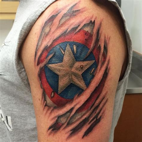 shield tattoo 105 captain america designs and ideas for marvel