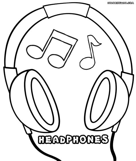 microphone coloring pages