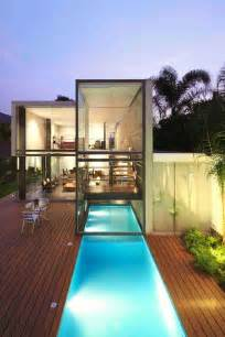 indoor outdoor house house modern glass and container pool on pinterest