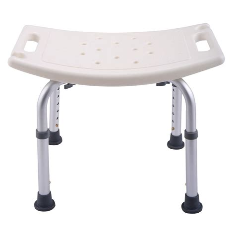Shower Bath Chair 6 height adjustable bath shower chair medical seat stool