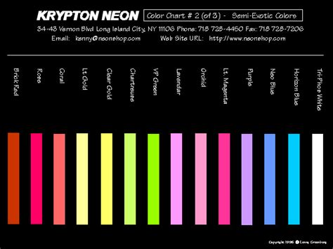 what color is krypton neon color page