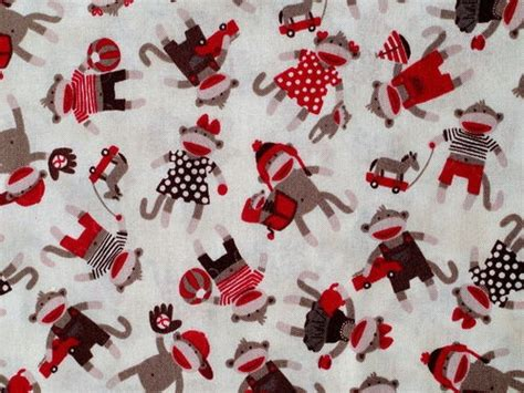 Sock Monkey Quilt Fabric by 60 Best Images About Sock Monkey On Cotton