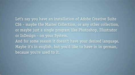 adobe illustrator cs6 language pack how to change the language pack of creative suite