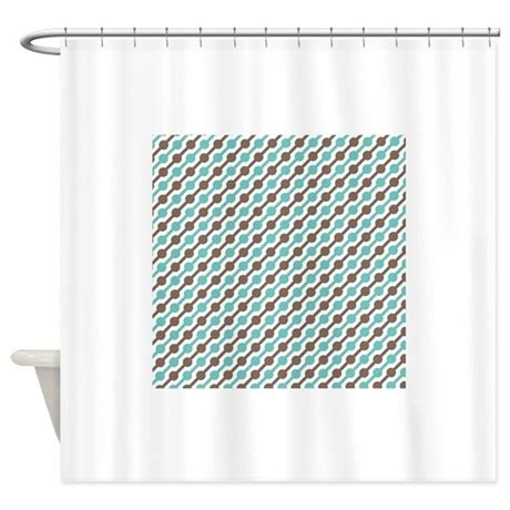 brown and teal shower curtain retro teal and brown pattern 3 shower curtain by clipartmegamart