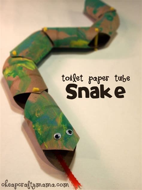 What To Do With Craft Paper - toilet paper snake crafts to do with