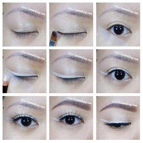 tutorial eyeliner white white eyeliner makeup tutorial kirei makeup