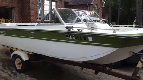 mfg tri hull fiberglass boat 1973 starcraft capri tri hull youtube