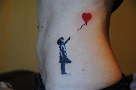 25 there is always hope banksy balloon tattoo