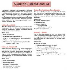 and evaluation outline template sle evaluation report 11 documents in pdf word