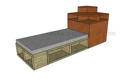 bedroom hutch corner bed hutch plans howtospecialist how to build