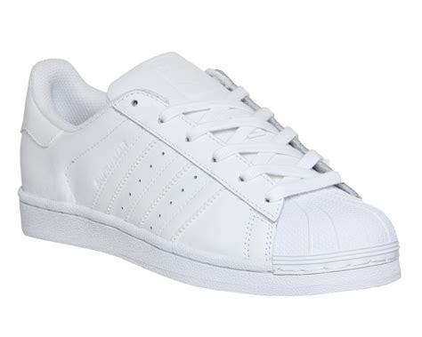 Adidas Superstar All White adidas superstar trainers white mono foundation