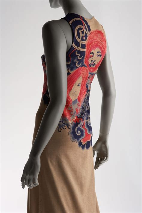 fashion tattoo quot dress quot created by issey miyake in 1971 miyake is