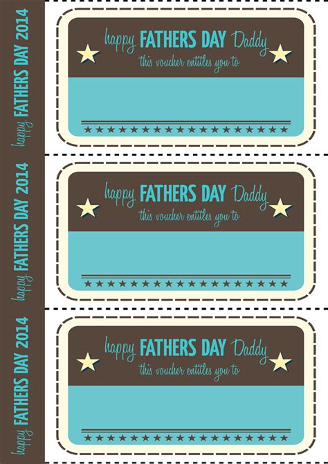 Fathers Day Printable Vouchers Vintage Style Dee Dub | fathers day printable vouchers vintage style dee dub