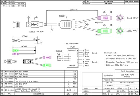 convert ps2 keyboard to usb wiring diagram 42 wiring