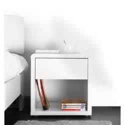 miliboo table de nuit design laqu 233 e blanche e achat