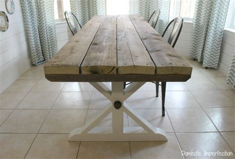 Rustic Picnic Style Dining Table Domestic Imperfection