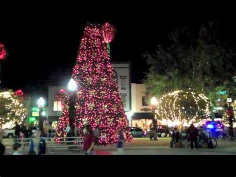 downtown ocala 2010 christmas lights youtube