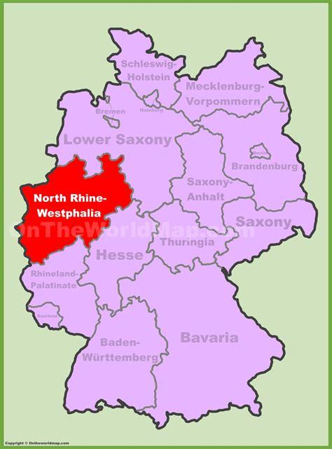 rhine germany map image gallery rhine westphalia