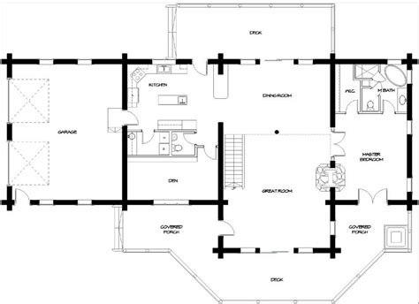 log lodge floor plans timber meadow log cabin 9447 3 bedrooms and 3 baths the house designers