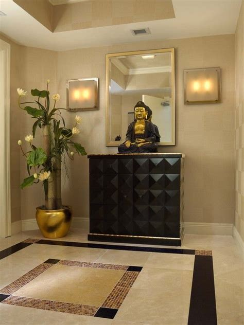 contemporary home decorations entryway foyer ideas entry foyer design with buddha