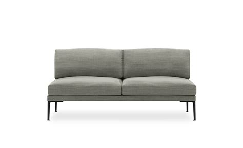 steeve two seat sofa without arms hivemodern