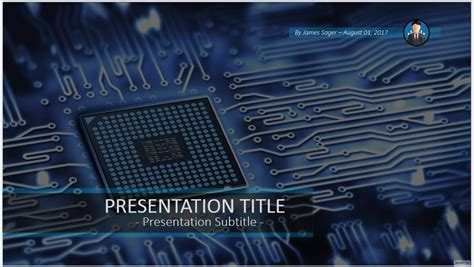 Circuit Board Powerpoint 55427 Free Circuit Board Electronics Ppt Templates Free