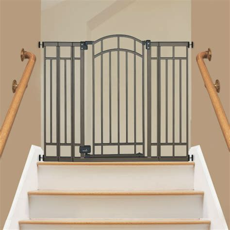 best baby gate for top of stairs with banister comparing the best baby gates for stairs top and bottom baby gate guru