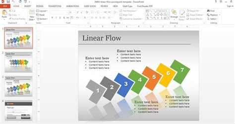 templates powerpoint original free linear flow template for powerpoint free powerpoint