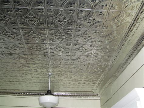 tin ceiling before and after our kitchen tin ceiling project living vintage