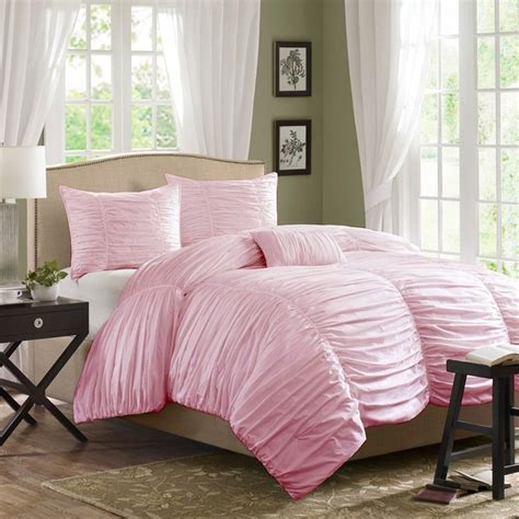 light pink comforter horizon ruched bedding set light pink bedroom pinterest