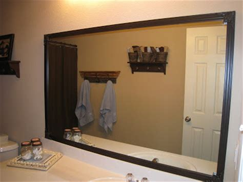 mirror trim for bathroom mirrors shanty2chic bathroom mirror quick fix diy