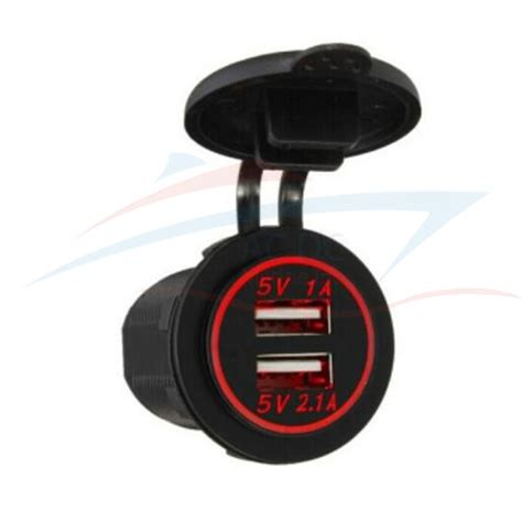 marine battery charger outlet dual usb charger socket outlet 3 1 panel mount ac dc