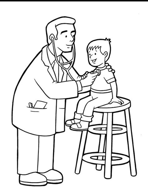 printable doctor coloring page doctor coloring pages sheets pracovne profesie