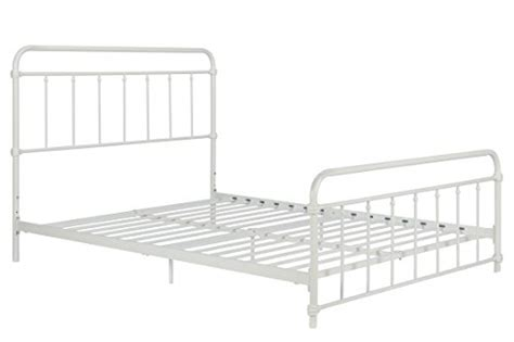 Dhp 4118139 Wallace Metal Bed Frame In White With Vintage Bed Frame No Box Required