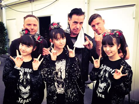 Other Words For Red by Official Photo Of Babymetal And Rammstein Babymetal