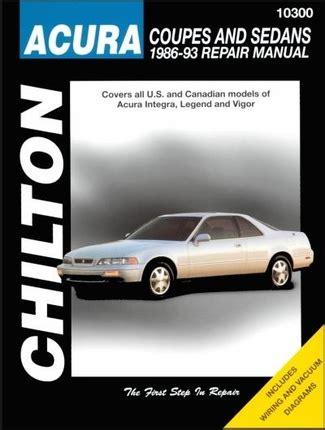 electric power steering 1993 acura legend auto manual acura integra legend vigor repair manual 1986 1993 chilton 10300