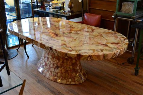 mosaic dining room table colossal mosaic onyx racetrack dining table at 1stdibs