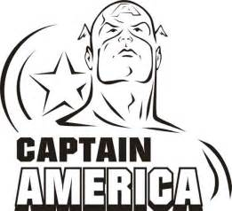 face captain america coloring page sunday